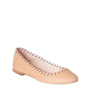 Loeffler Randall Karlotta Tan Leather Flats Shoes